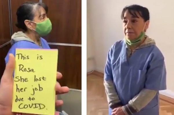Vecinos cooperan para pagar apartamento a empleada doméstica desempleada #VIDEO