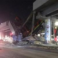 Se desploma puente y tren del Metro en estación Olivos