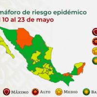 Cambios en el semáforo epidemiológico: 14 estados en verde