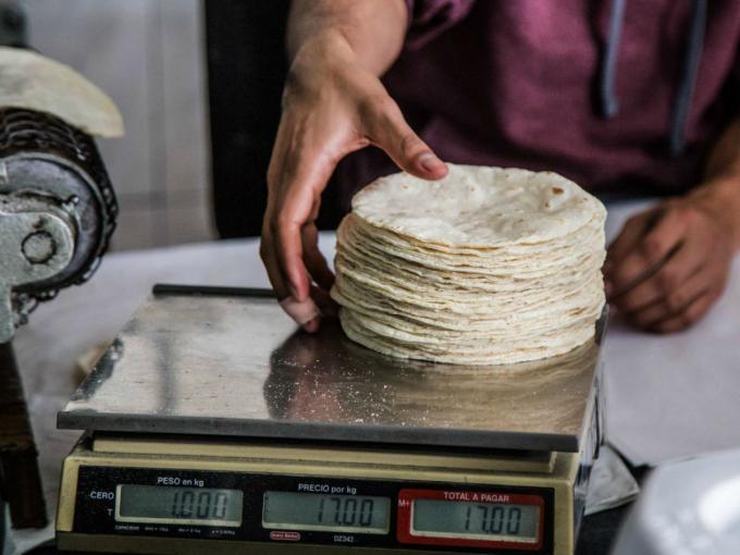 Tortilla sube a $20 en Zona Metropolitana del Valle de México