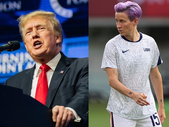 """Asegura Trump que de haber """"respetado el himno"""" la selección femenil de fútbol habría obtenido oro"""
