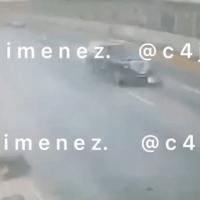#VIDEO Así embistió camioneta de empresario a sicario en AICM