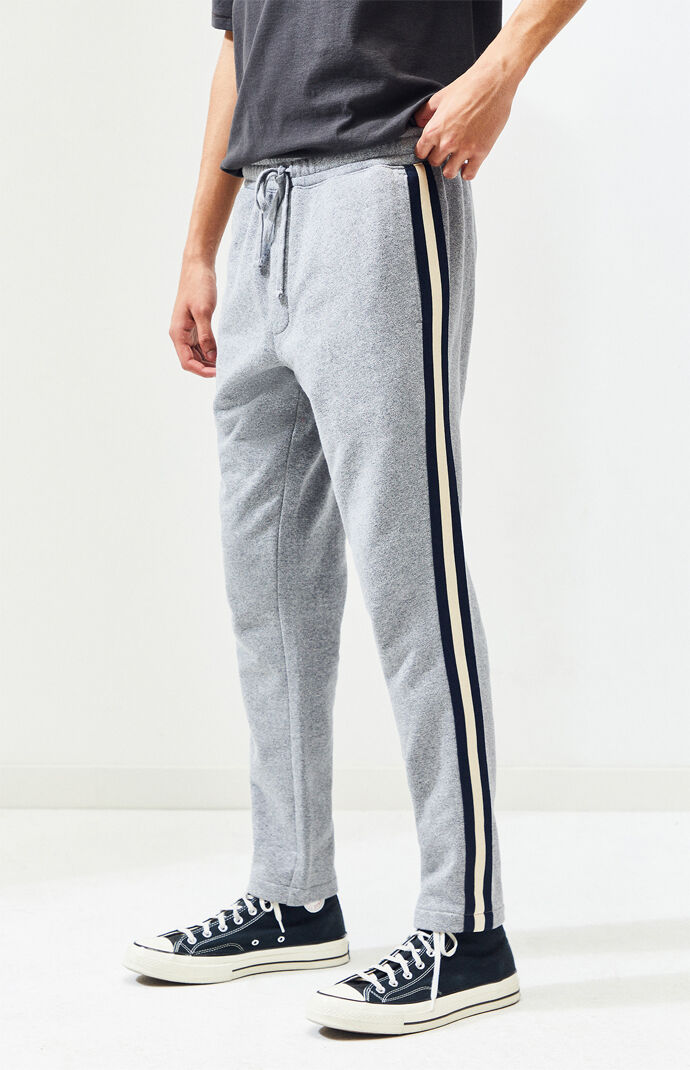 French terry side stripe track pants also jogger and sweatpants for men pacsun rh