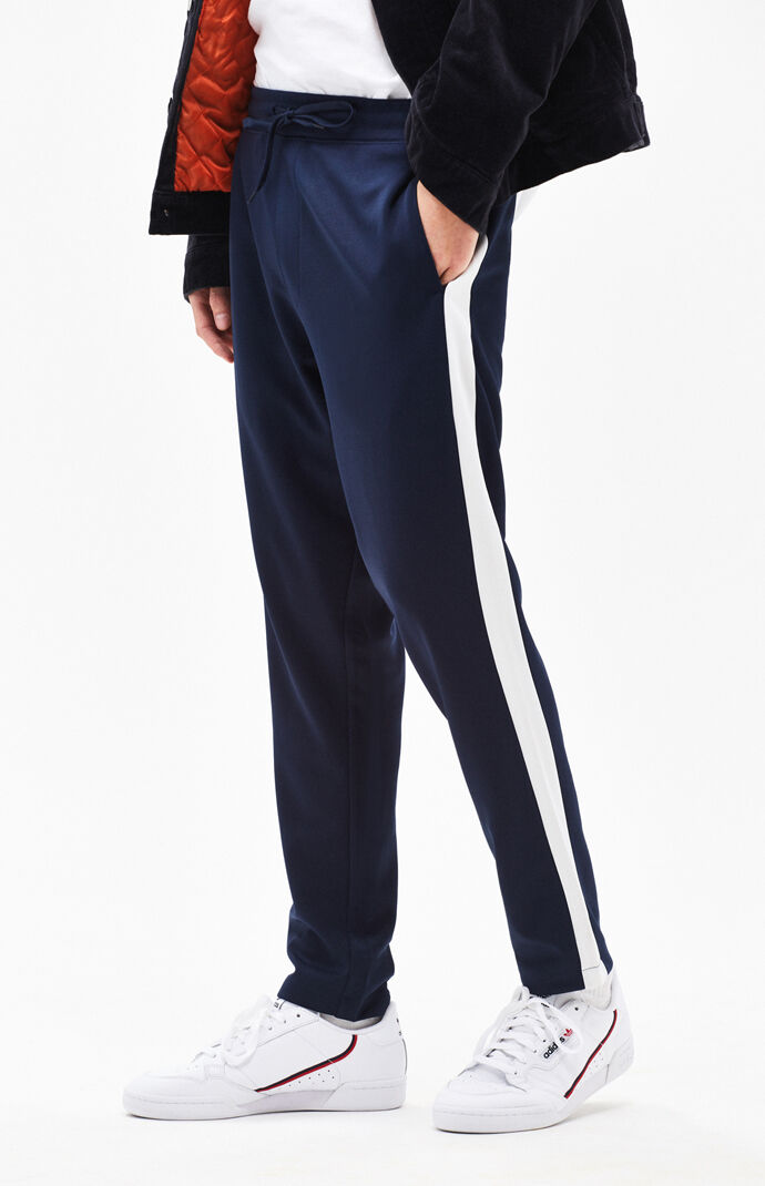 Side stripe tricot navy track pants also jogger and sweatpants for men pacsun rh