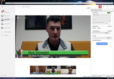 Rick answering my questions, post hangout