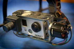 An attached GoPro Hero 2 camera