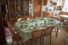 Pre-dinner table setting