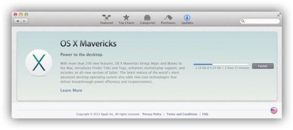 Downloading Mavericks