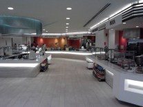 Inside the cafeteria