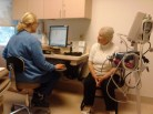 Nurse taking vitals