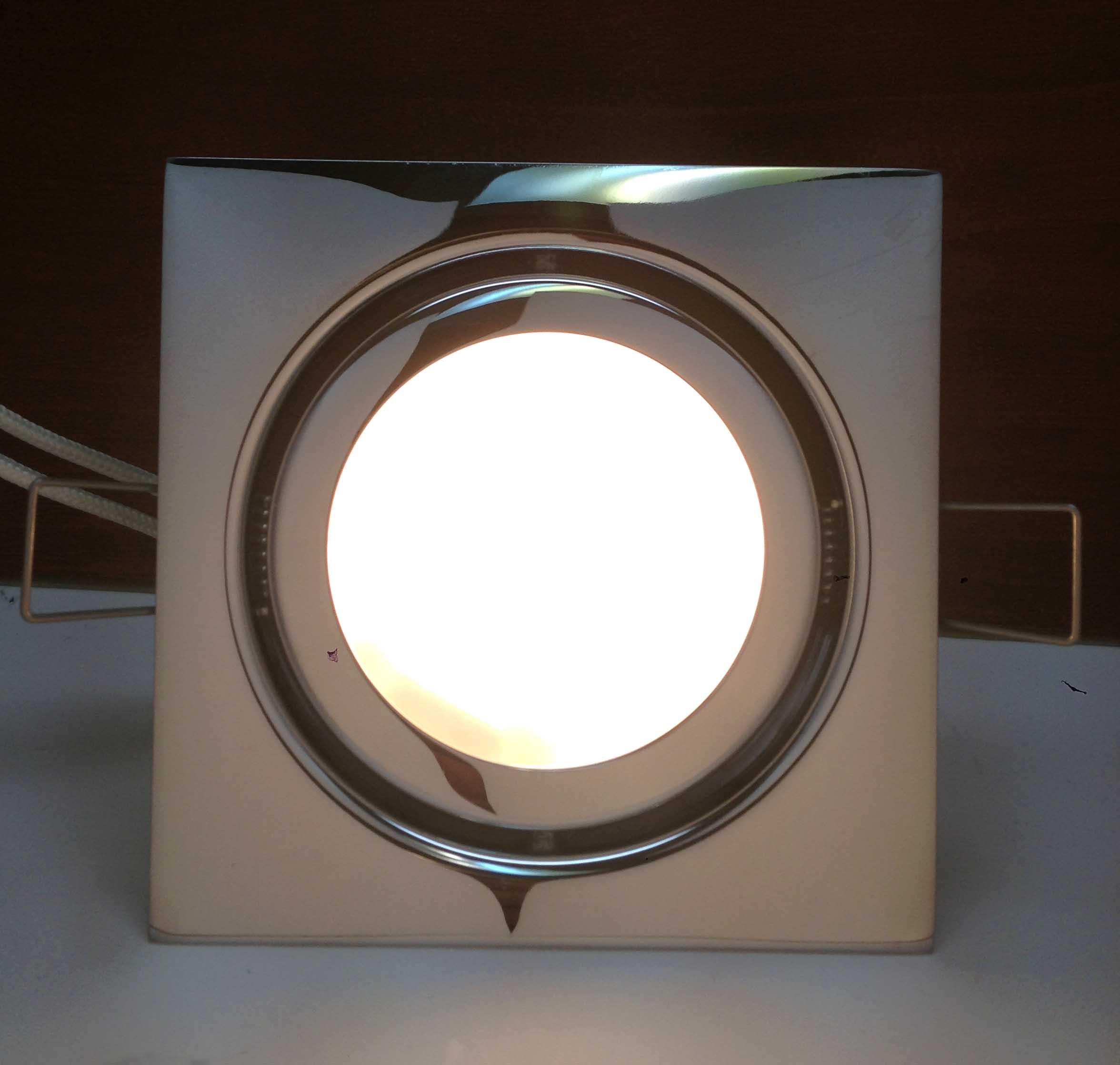 Marine Boat Square LED Swivel Ceiling Light Flush Mount