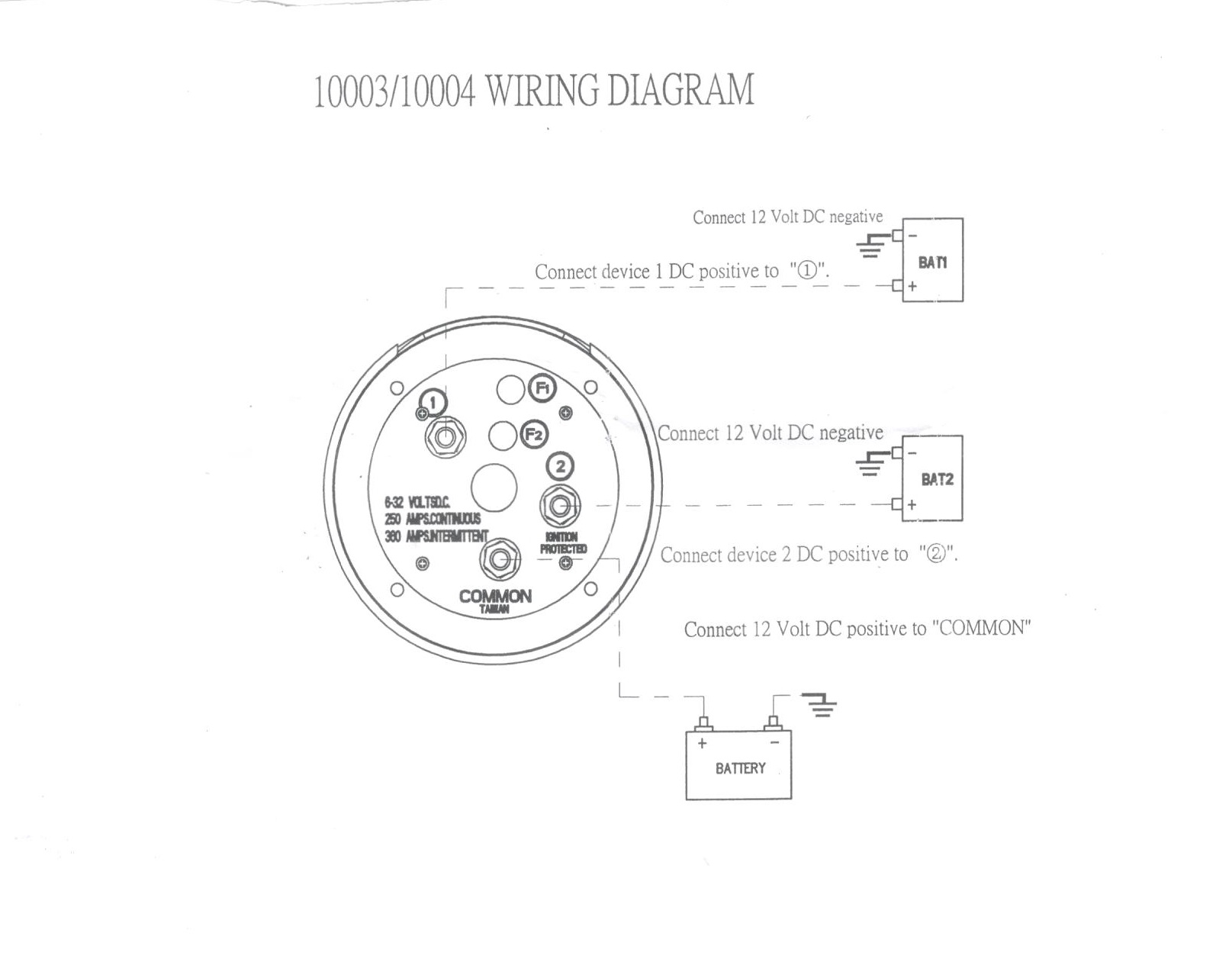 boat battery disconnect switch wiring diagram electric furnace lennox pactrade marine dual selector