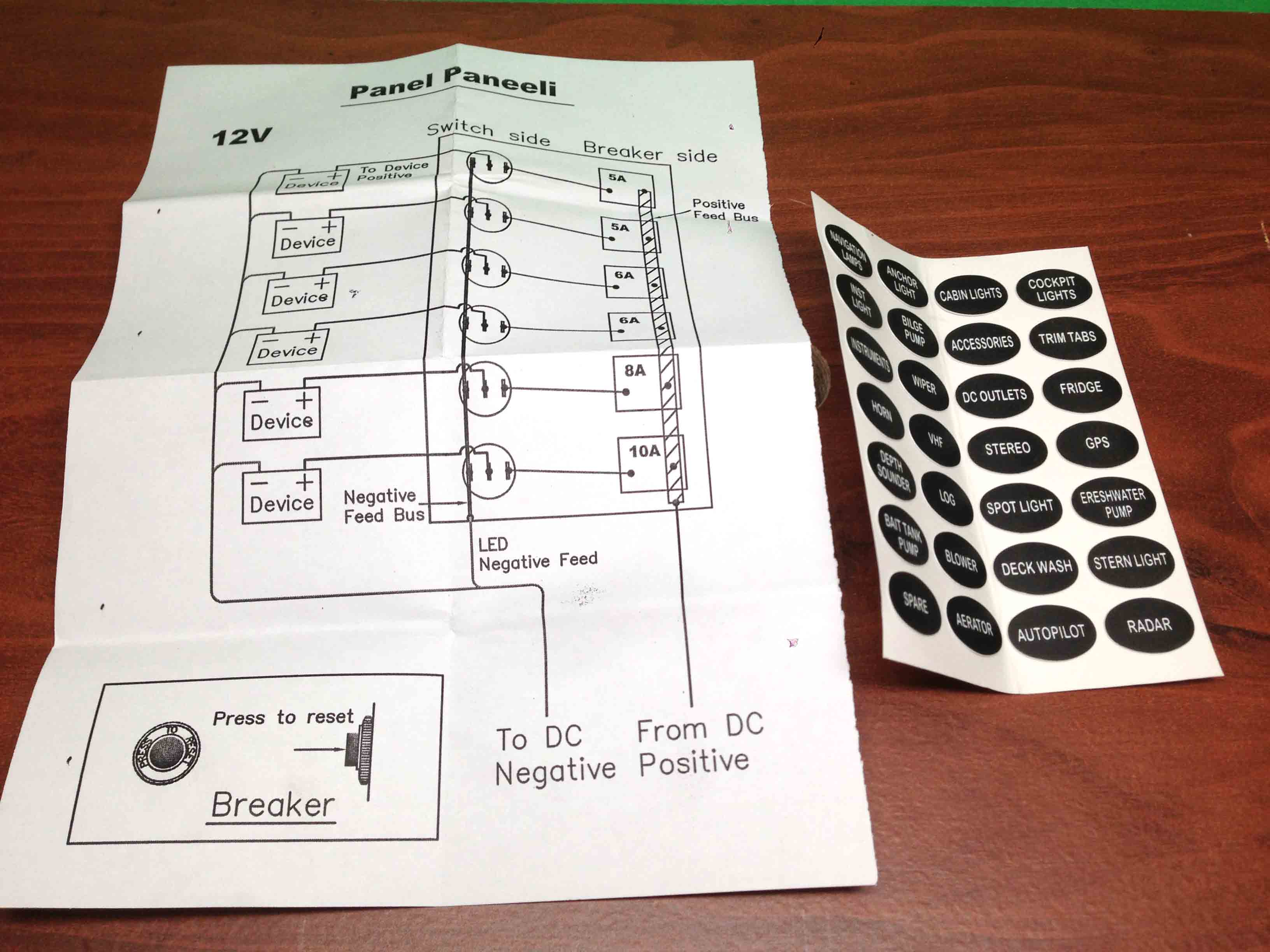 boat accessory switch panel wiring diagram 1992 s10 radio marine ip65 6 gang led switches circuit breaker brea
