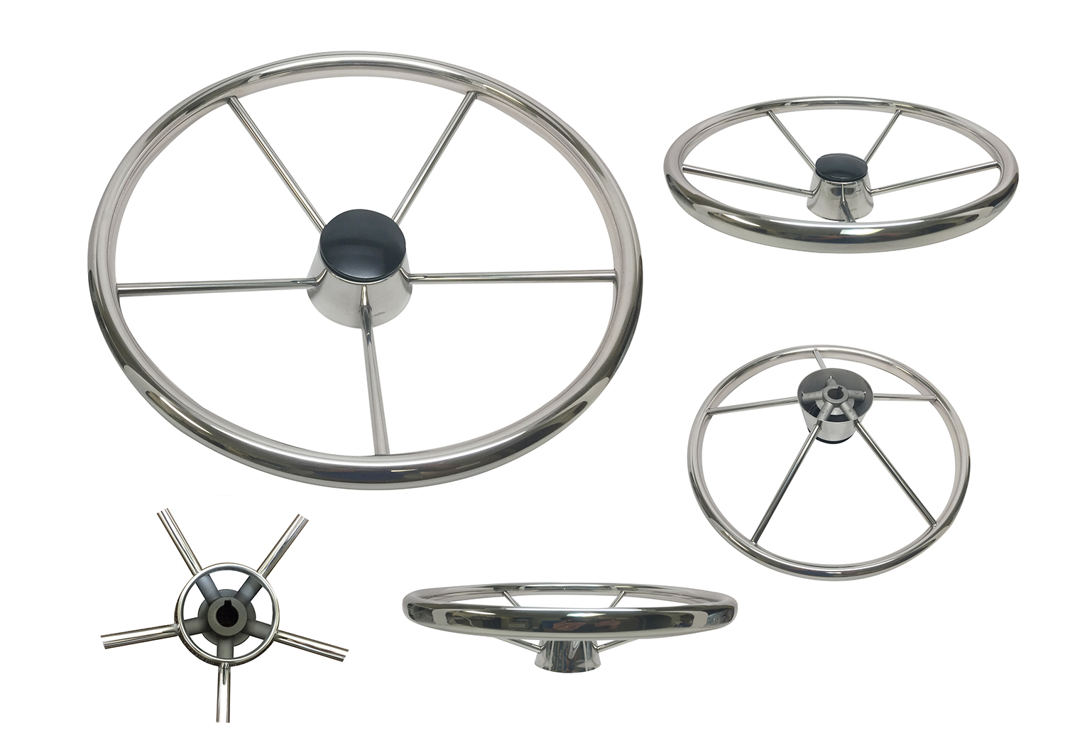 Stainless Steel Boat Steering Wheel 13 1 2 Amp Quot Five