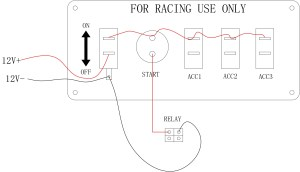 Pactrade Marine Racing Car Ignition Switch Panel Engine