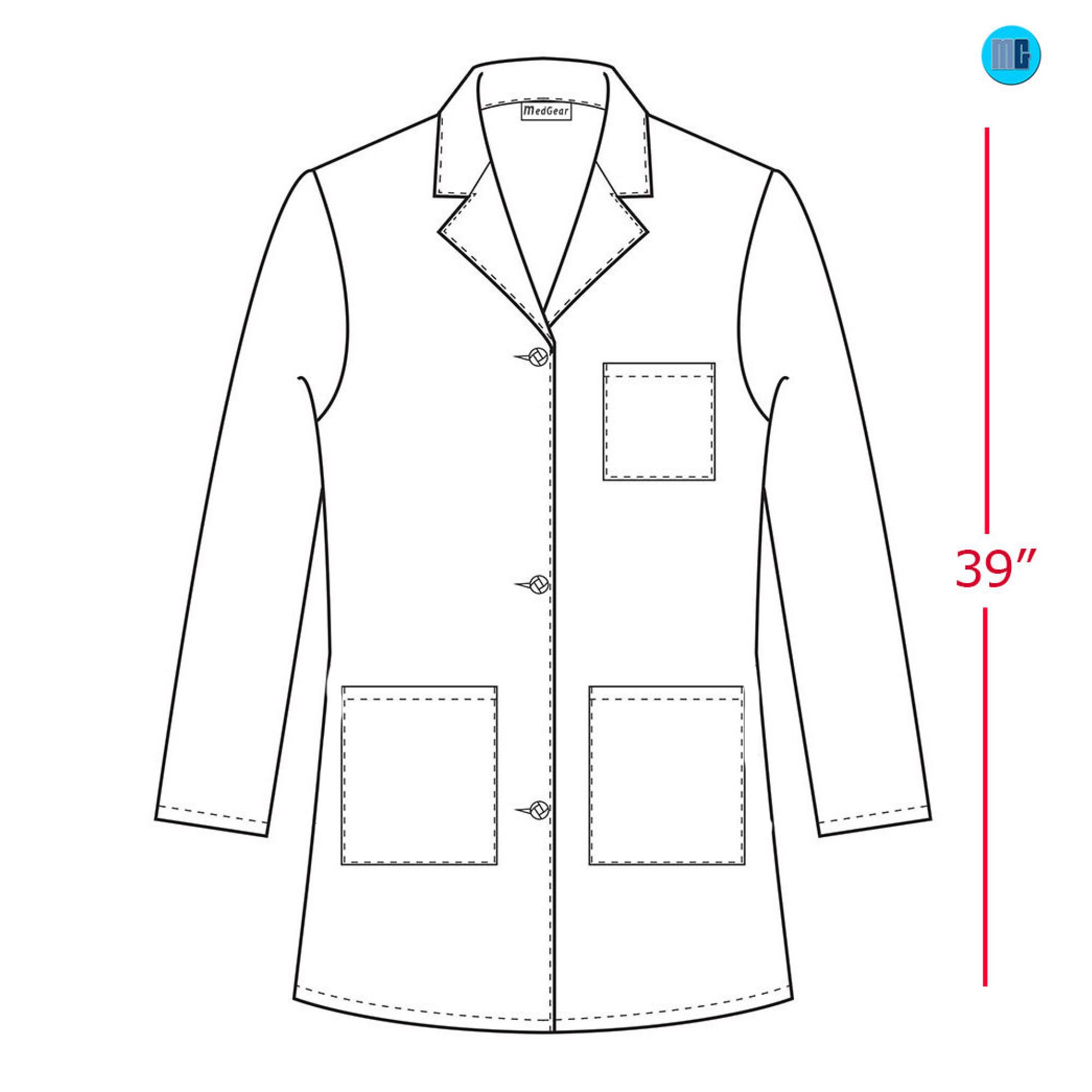 Medgear 39 White Lab Coat For Women