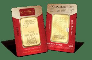 public gold 50 gram classic