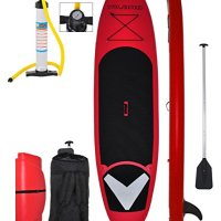 "Vilano Voyager 11'x 6"" Thick Inflatable SUP Stand Up Paddle Board Package"