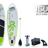 Inflatable SUP Stand Up Paddle Board 9' 9 w/ Upgraded Pump & 3pc Paddle