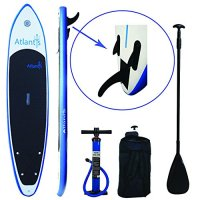 "Cyber Monday Week - Atlantis Paddle Boards SUP Inflatable Paddle Board 10'6"" & 6"" Thick. Includes Carrier Bag, Adjustable Stand-Up Paddle & Dual Action High Pressure Pump w/ PSI Guage."