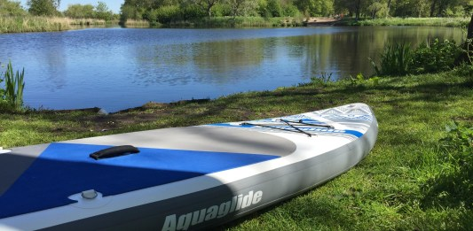 Aquaglide Cascade 11' inflatable standup paddleboard