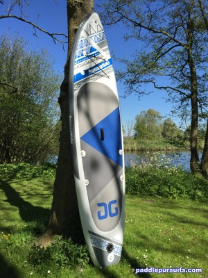 Aquaglide Cascade 11' standup paddleboard with large EVA deck pad