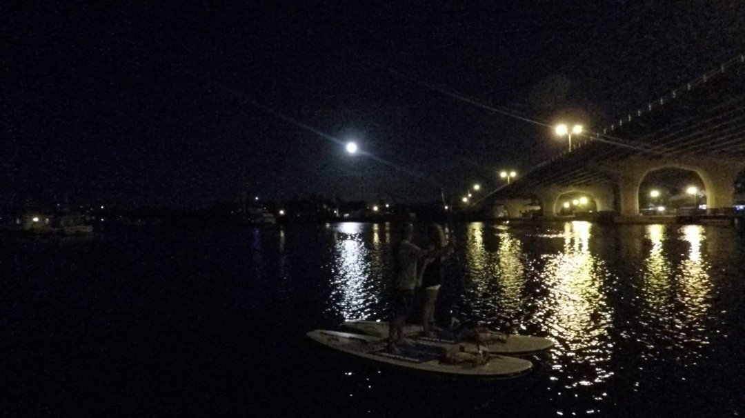 Full moon paddle board and kayak tour