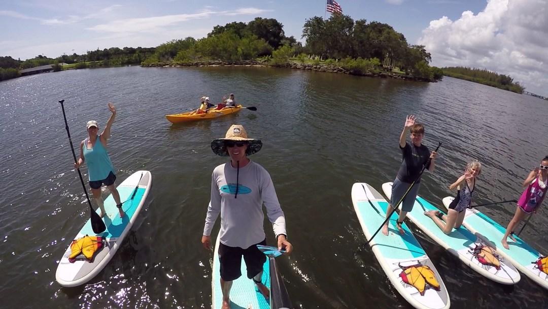 Paddle board and kayak tour