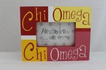 Chi Omega Block Frame