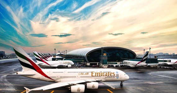 Emirates airline Airbus a380 at Dubai International Airport - Emirates had a stellar 2016