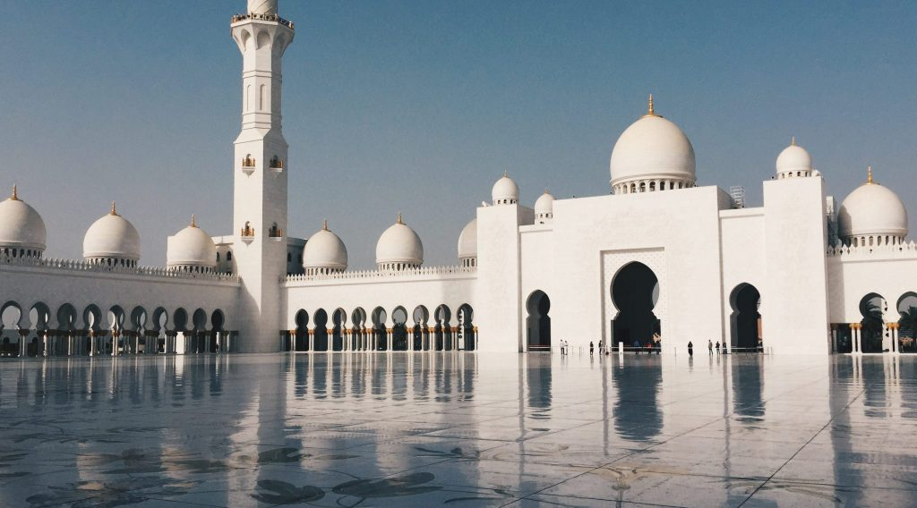 The famous Sheikh Zayed Mosque in Abu Dhabi