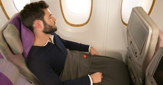 Emirates launches new blankets in economy that are made out of 48 recycled bottles