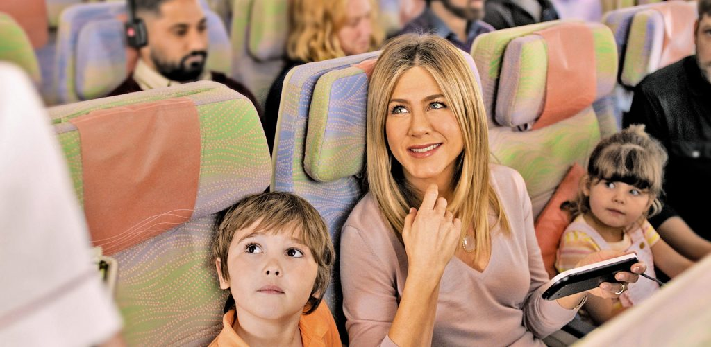 Jennifer Aniston helped sell Emirates Economy Class product. We'll she return to advertise Premium Economy? Photo Credit: Emirates