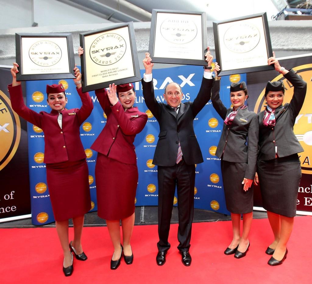 Qatar Airways won the 'Worlds Best Airline' at the Paris Air Show 2017. Photo Credit: Qatar Airways