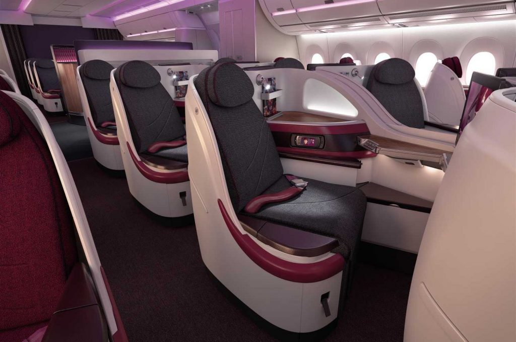 Qatar Airways has won award after award for its luxurious cabins and service. Photo Credit: Qatar Airways