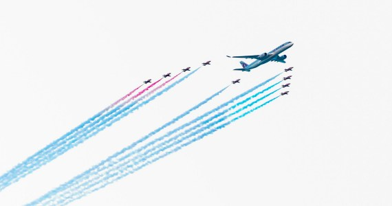 Qatar Airways Has Celebrated its 20th Anniversary in Spectacular Style With Red Arrows Fly Past in Doha