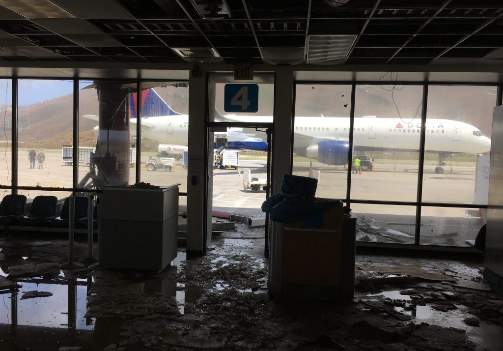 Delta sent a Boeing 757 to the island of St. Thomas as a relief flight packed with emergency supplies. Photo Credit: Delta Air Lines