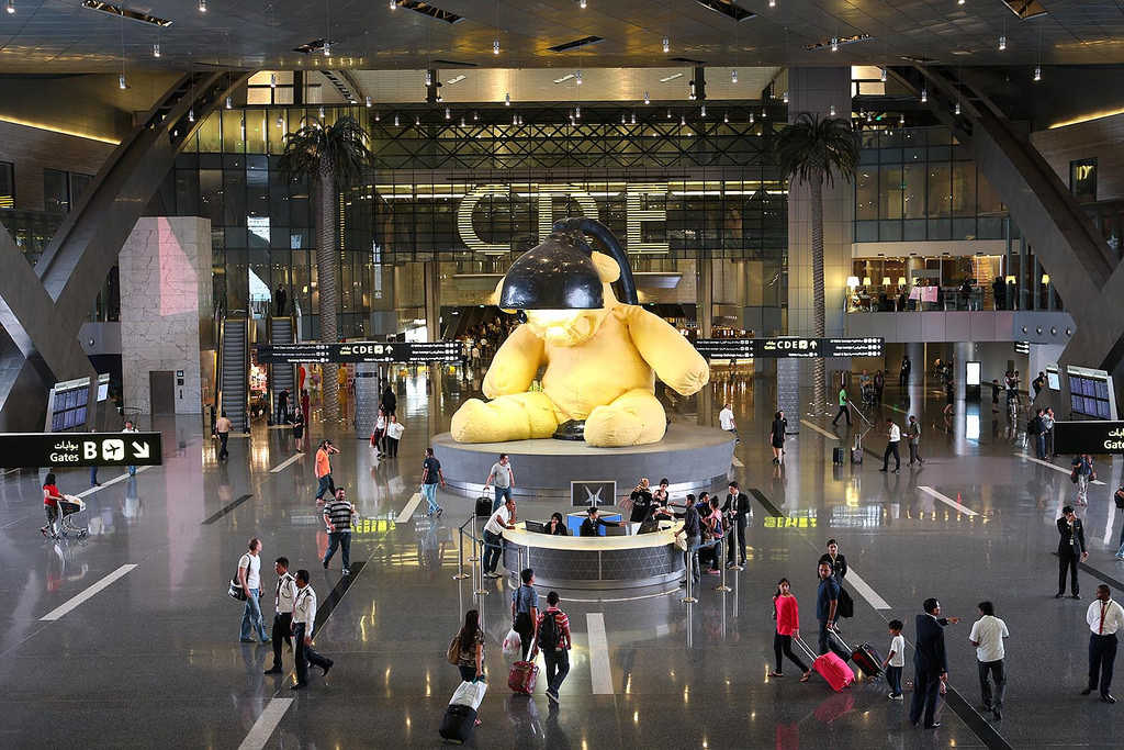 Hamad International Airport in Doha, Qatar is one of five 'aviation mega-cities' in the Middle East. That number is forecast to more than double to 11 cities in the region by 2036. Photo Credit: Qatar Airways