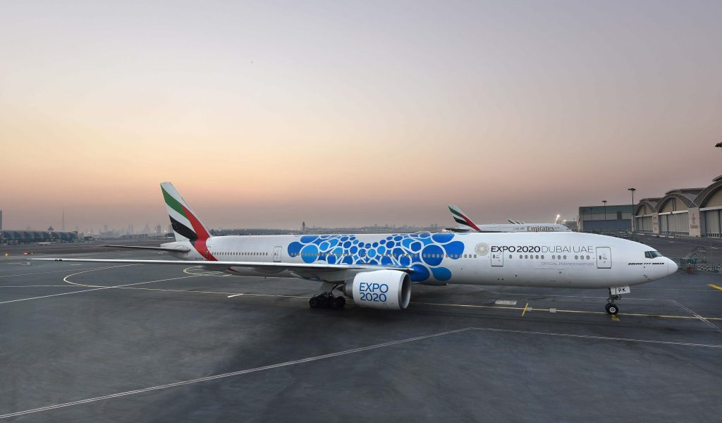 The special Expo 2020 design will be one of the largest liveries to adorn an Emirates Boeing 777. Photo Credit: Emirates