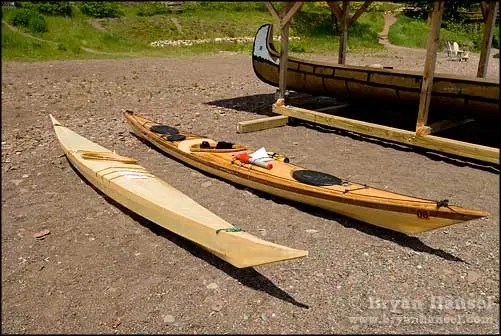 The skin Greenland style boat was the inspiration for the Siskiwit Bay, which is the third craft descending from this Greenland boat.