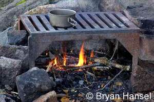 Cooking over a fire in the BWCA.