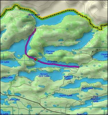 Boundary Waters Map