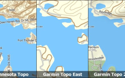 Example of free topo maps for Gramin GPS.
