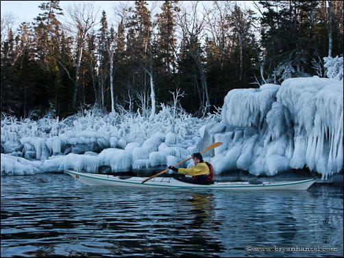 Lake Superior Winter Kayaking