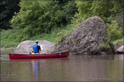 Solo canoeing in Iowa.