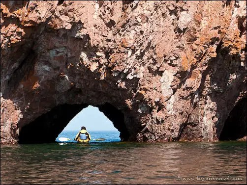 Cave and Kayaker