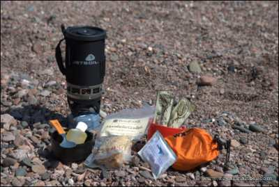 Jetboil stove and cooking gear