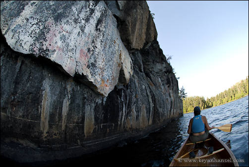 Pictographs on Fishdance Lake in the BWCA.