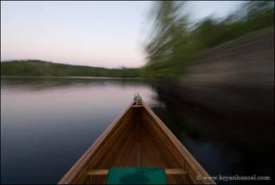 Canoe on Ogishkemuncie Lake in the BWCA