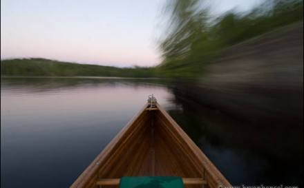 Canoe on Ogishkemuncie Lake in the BWCA